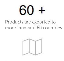 Products are exported to more than and 60 countries and regions